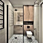 Projektowanie hoteli Ostróda -apartament-kołobrzeg-łazienka-styl-skandywski-wkwadrat-pl