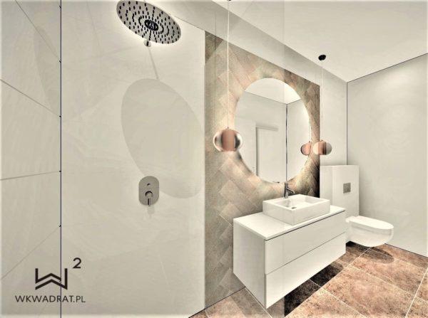 Architekt Wnetrz Hoteli i Pensjonatów Ostróda - Łazienka 2019 w obiekcie Oasis
