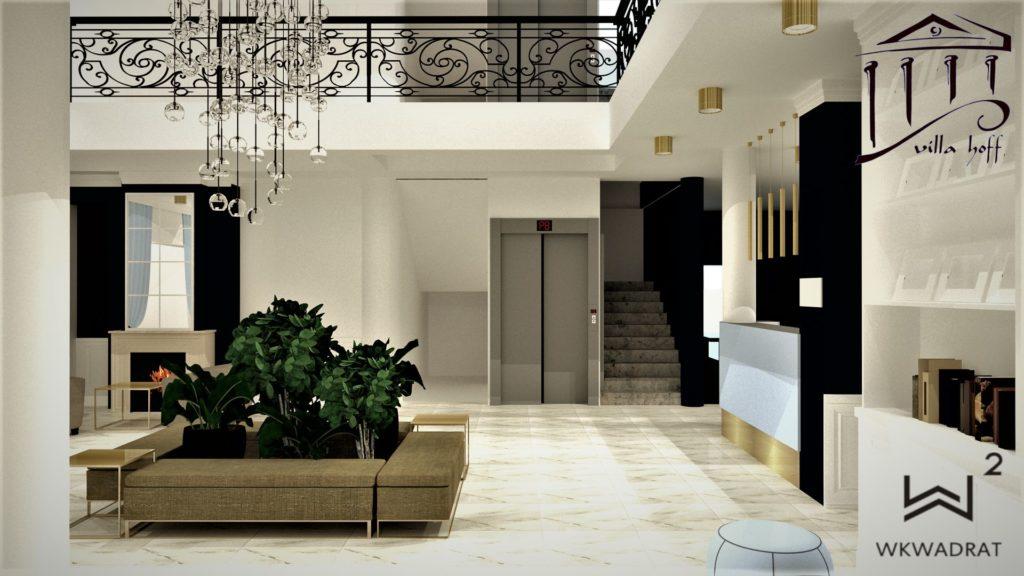 PROJEKTOWANIE i ARANŻACJA WNĘTRZ HOTELI -HOL-VILLA-HOFF-WKWADRAT-TORUN