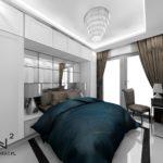 Architekt Wnetrz Hoteli Ostróda - Sypialnia w stylu glamour