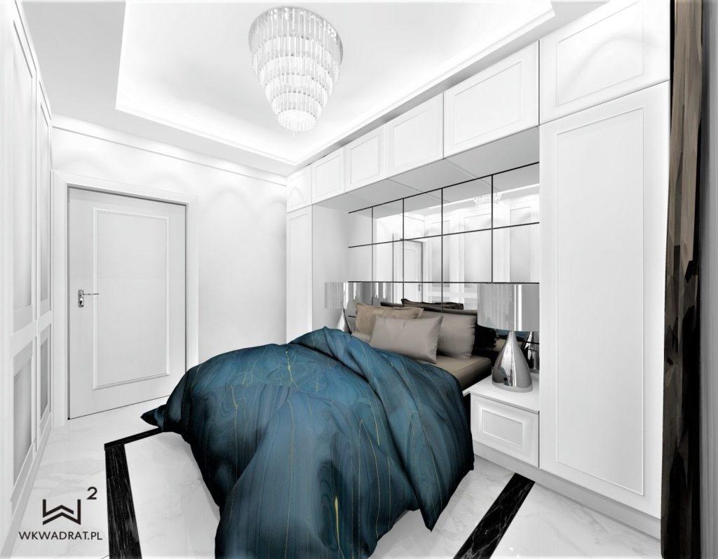PROJEKTOWANIE i ARANŻACJA WNĘTRZ HOTELI- Sypialnia w stylu glamour