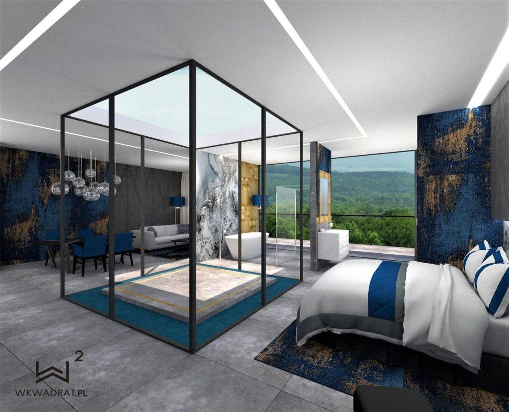 PROJEKTOWANIE i ARANŻACJA WNĘTRZ HOTELI -projekt-wnętrz-pokoju-hotelowego-aranzacja-apartementu-pracownia
